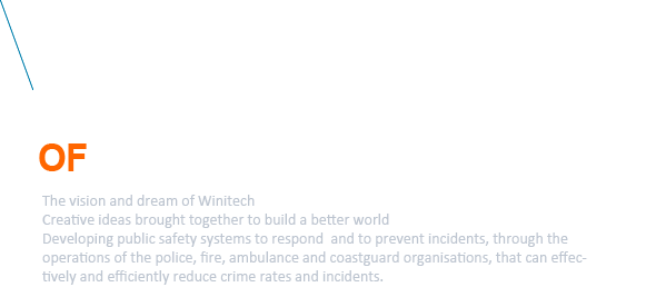 Technology for the safety of human lives, The vision and dream of Winitech.